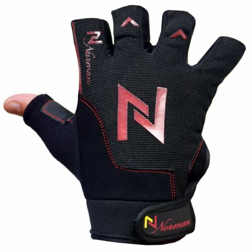 Gym Weight Lifting Gloves Fitness Training Body Building Leather Padded Cycling