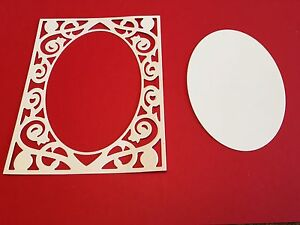 8-x-Die-cuts-Quincy-Frame-and-oval-inserts-FREE-UK-POSTAGE