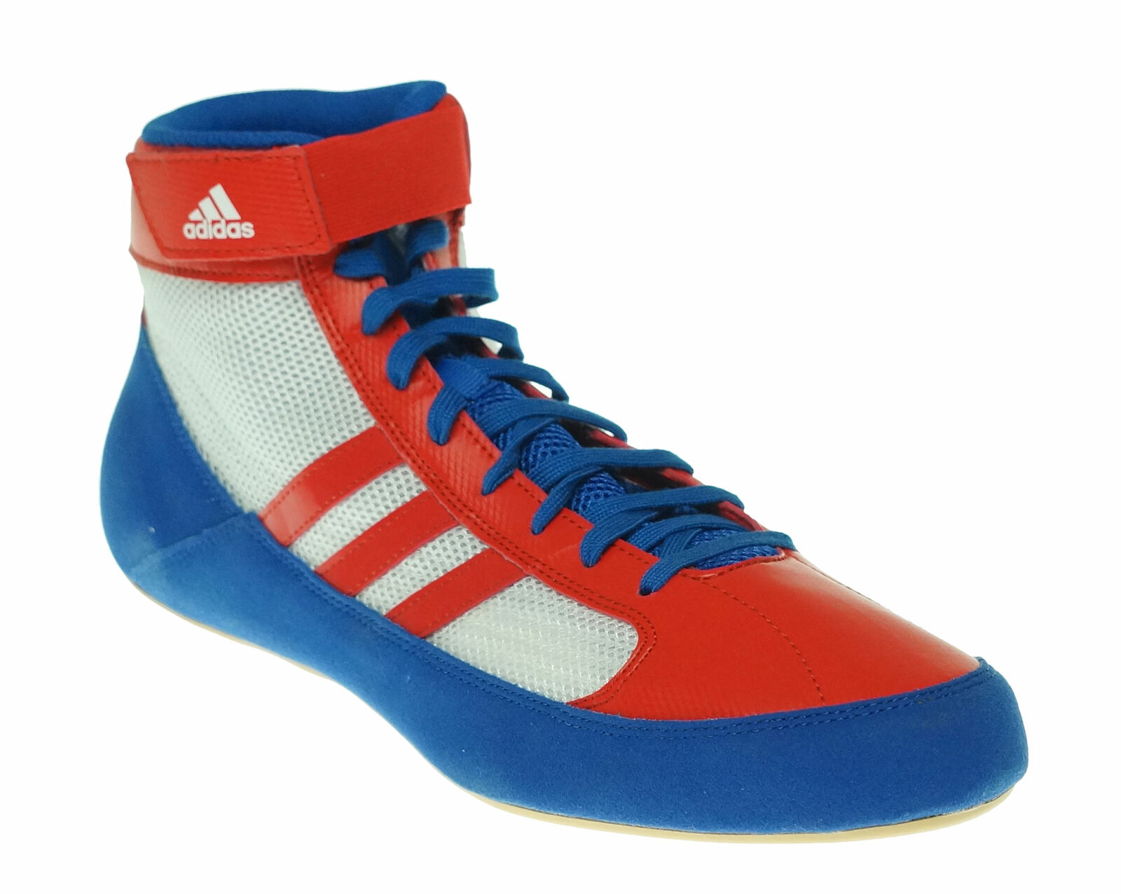 Adidas Men's HVC Lace Up Wrestling Athletic shoes bluee red White Size 12.5