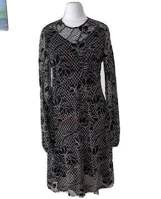 zara kleid gr xs abendkleid schwarz weiß  ebay