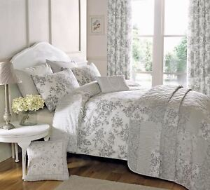 FLORAL-TOILE-PATCHWORK-GREY-SINGLE-COTTON-BLEND-REVERSIBLE-DUVET-COVER-SET