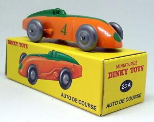 ATLAS-DINKY-TOYS-riproduzione-23A-AUTO-de-course-arancione-Racing-Auto-Modello-Diecast