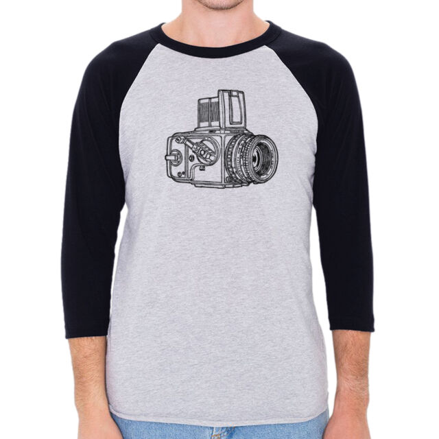 "Camera Series ""Hasselblad"" Men's American Apparel 3/4 Sleeve Baseball Shirt"