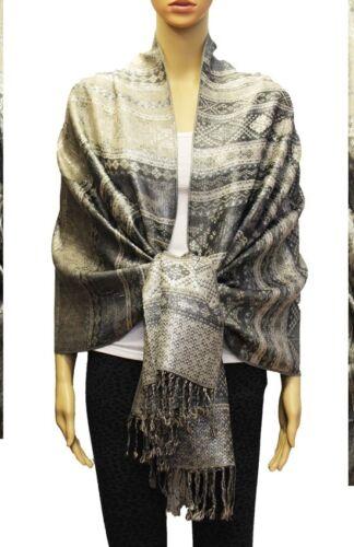 Fashion Tassel Long Striped Pashmina Shawl Scarf Wrap Evening Tribal Aztec Multi