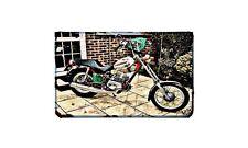 Fantic Chopper Motorbike Sign Metal Retro Aged Aluminium Bike