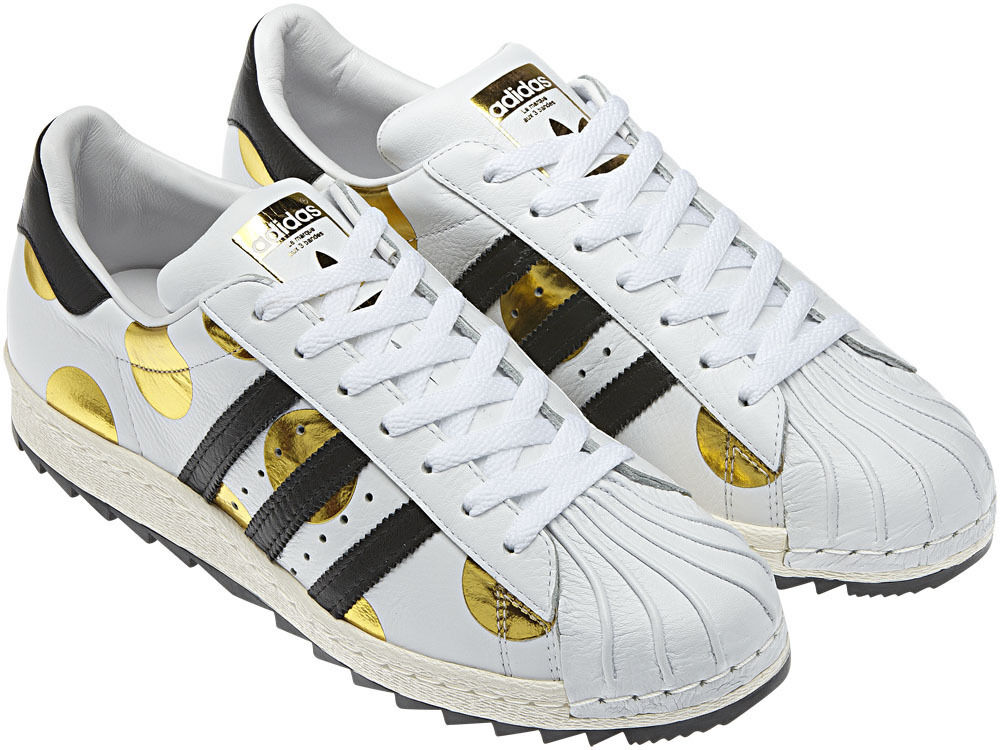 - feder - adidas jeremy scott superstar 80 ripple - polka - dot - schuhe gazelle - mens sz - 9.
