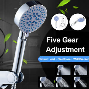 5-Gear-Adjustment-Tap-Shower-Spray-Head-Home-Bathroom-Rain-Shower-W-Shower-Hose