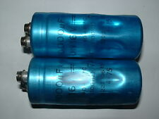 2 x Philips 10000uf 16v computer grade screw terminal capacitor 2222-106-15103