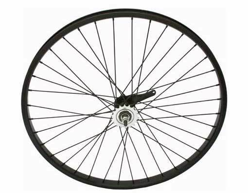 "26"" x 2.125"" Alloy Coaster Wheel 105g  Black .BEACH CRUISER WHEEL 294214"