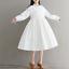 Womens-A-Line-Pleated-Cotton-Linen-Shirt-Dress-Thin-Long-Sleeve-Dress-Casual-New thumbnail 5