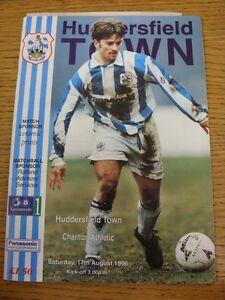 17-08-1996-Huddersfield-Town-v-Charlton-Athletic-Newspaper-Clippings-Inside