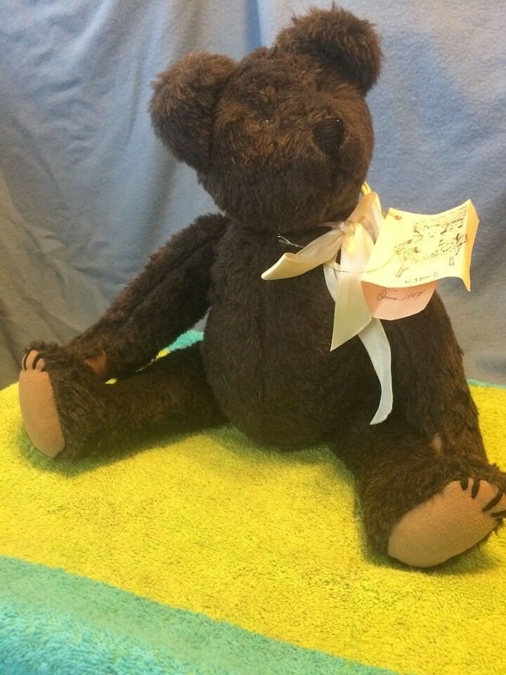 1984 The 3 Bears Co Plush Bear Jointed West Seattle