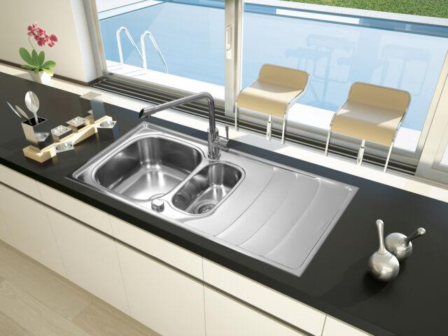 lavandino lavello incasso acciaio inox cucina miami 100 x 50 respekta