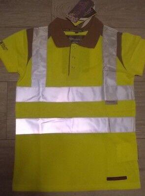 Sincero Le Ragazze Equitazione O Ciclo Polo Shirt Top Giallo Hi Viz Vis Equitazione Rockfish-mostra Il Titolo Originale