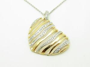 18kt-Yellow-Gold-Sterling-Silver-Diamond-Set-Pave-White-Sapphire-Heart-Necklace