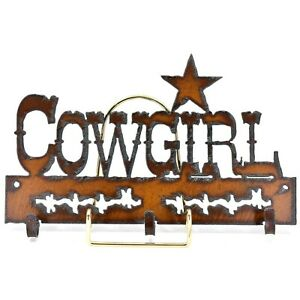 Country Western Rusted Patina Iron Metal Cutout Horseshoe Fan Light Pull Chain