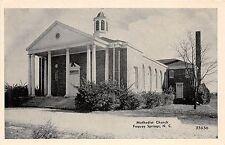 B55/ Fuquay Springs North Carolina NC Postcard c1940 Methodist Church
