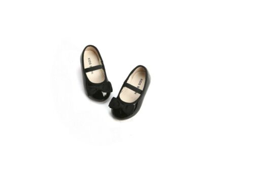 Kids Flats Toddler Girl Mary Jane Black//Red Shoes School Shoes Dress Shoes
