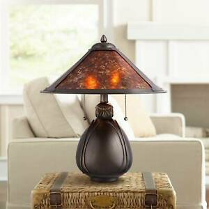 Tiffany-Style-Table-Lamp-Bronze-Pottery-Mica-Natural-for-Living-Room-Bedroom