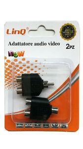PACK-2-ADAPTADORES-ADAPTADOR-CONECTOR-RCA-MACHO-A-DUPLICADOR-RCA-HEMBRA-AV-26