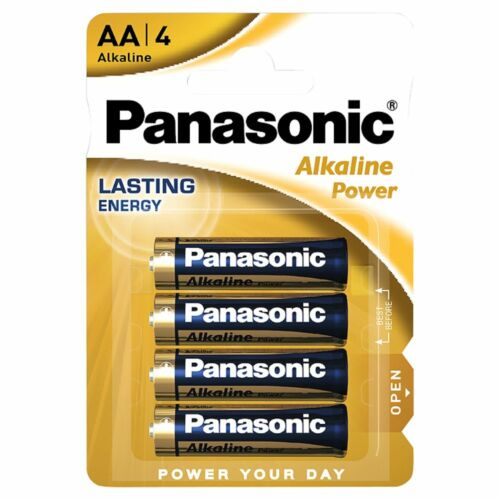 Pack de 4 Pilas Alcalinas PANASONIC Modelo AA de 1.5 V en Blister Nuevo a3344