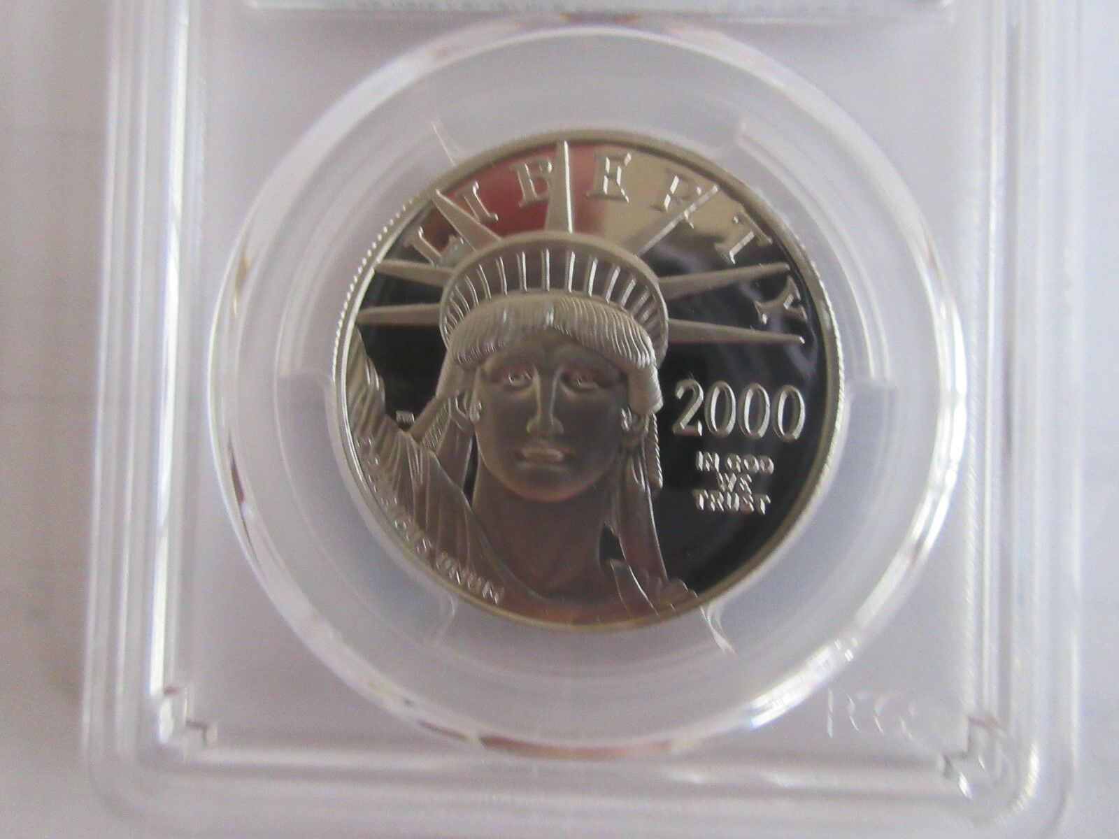 2000-W, $100 , Statue of Liberty , Platinum Eagle , PCG