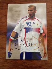 2011 Futera Greats Unique Soccer Card - France ZIDANE Mint