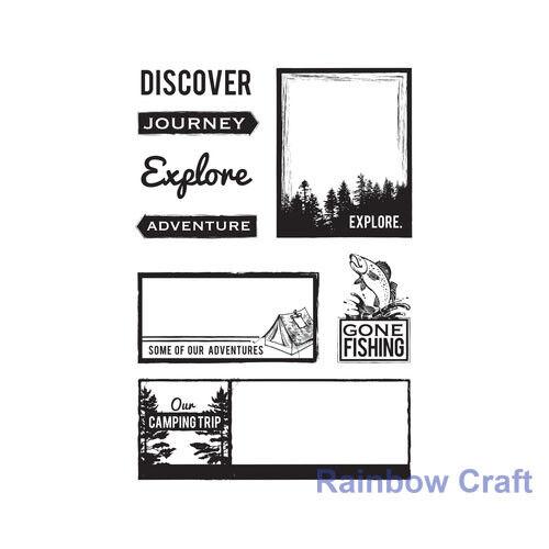 P.S Discounted Kaisercraft clear stamp Hanami Garden I Love You Indigo Skies