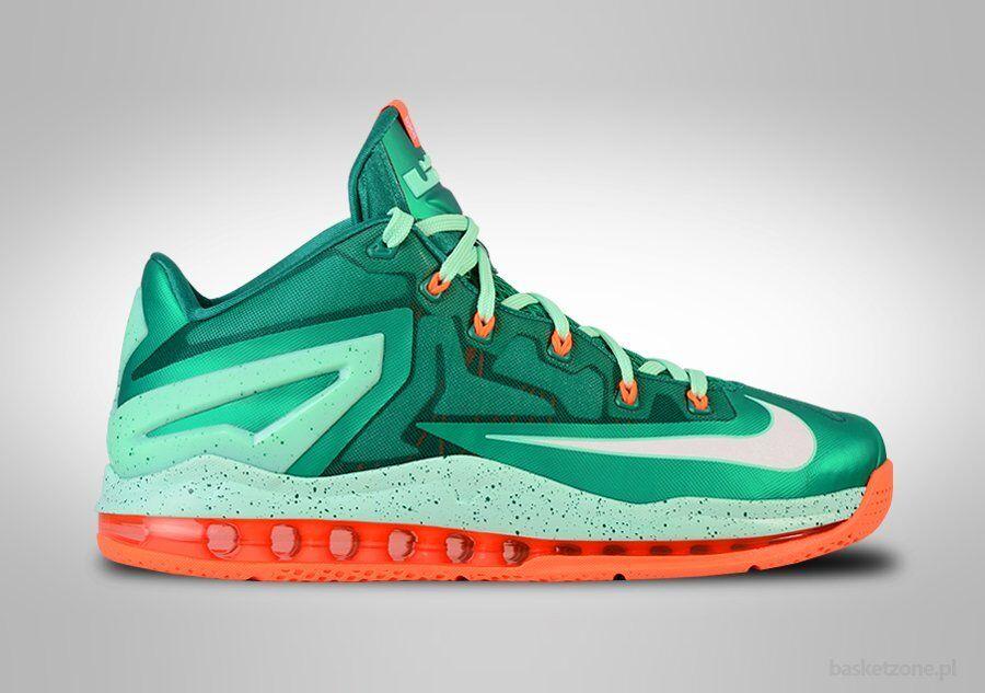 Nike lebron XI low mystic green size 14