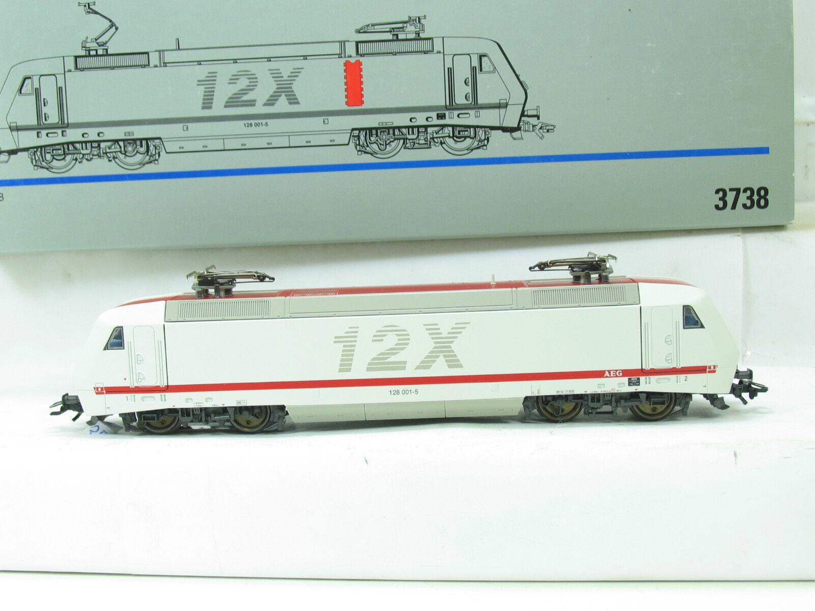 h0 3738 E-Lok BR 128 001-5 Digital AEG 12x b2137
