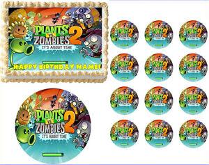 Plants Vs Zombies 2 Edible Cake Topper Image Cake