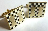 Chess King Queen Pawn Knight Game Club Group Suit Tuxedo Cufflinks Cuff Links