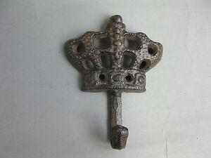 Ganchos-Para-Ropa-Hierro-Fundido-Metal-Toallero-CORONA-10cm