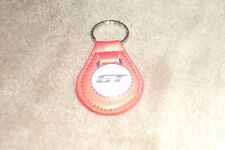 1983 1984 1985 1986 1987 1988 1989 FORD MUSTANG GT EMBLEM LEATHER KEYCHAIN RED
