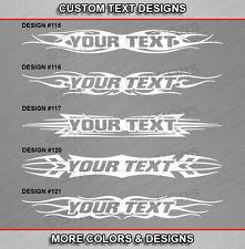 Fits DODGE DAKOTA Custom Windshield Tribal Flame Vinyl Graphic Decal Text Truck