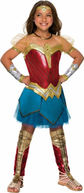 Rubies 640004 Girls Justice League Wonder Woman Costume For Kids 5 7