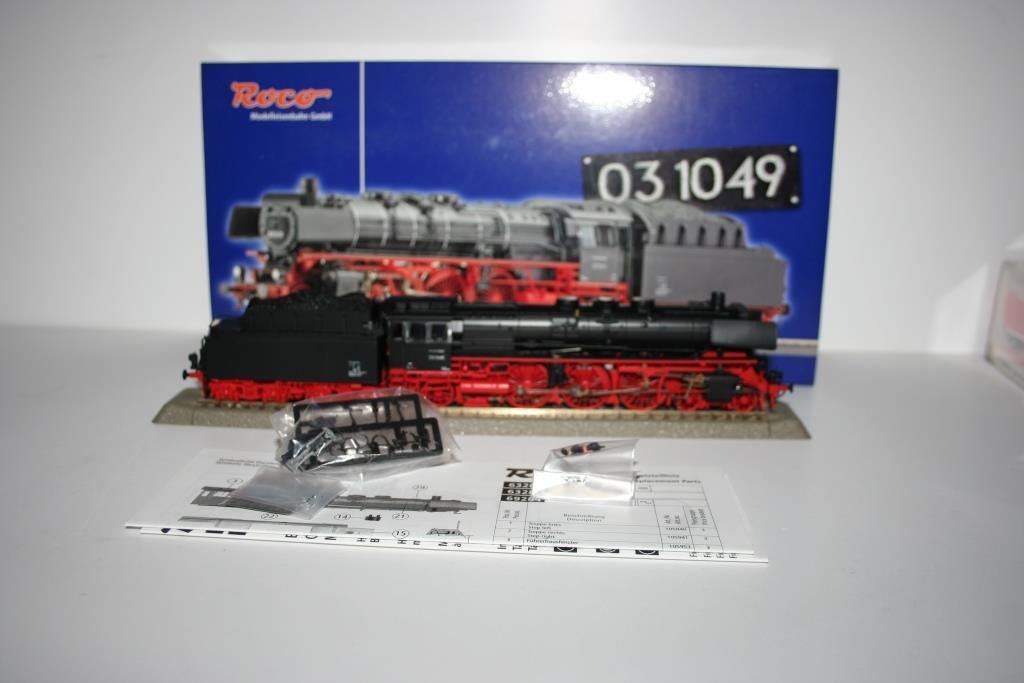 Roco Spur h0  63283 locomotora a vapor br 03 1049 de la DB, embalaje original, (DG)