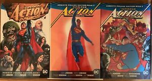Superman Action Comics DC Deluxe Rebirth Hardcovers Volumes 1-3