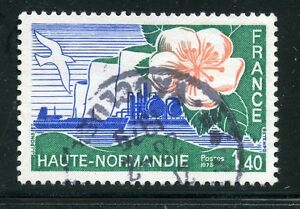 STAMP-TIMBRE-FRANCE-OBLITERE-N-1992-HAUTE-NORMANDIE