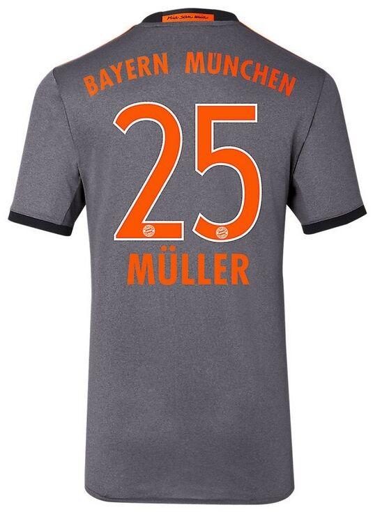 Trikot Adidas FC Bayern 2016-2017 2016-2017 2016-2017 Away - Müller 25  FCB 972370