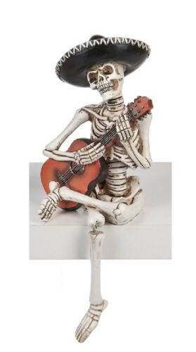 Ganz H8 Day Of The Dead Halloween Mariachi Shelfsitter 8in Mexican Skeleton...