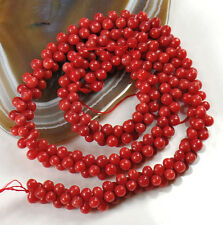 """Red Natural Sea Coral Peanut 8x3mm Beads 15"""" (CO189)a for DIY Jewelry"""