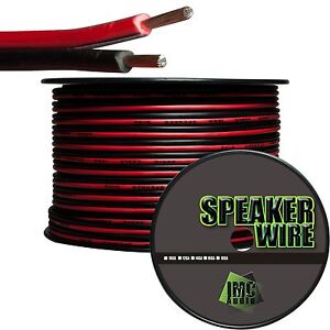 16-Gauge-Speaker-Wire-Red-Black-Cable-Power-Ground-Stranded-Copper-5-Ft-Car-Home