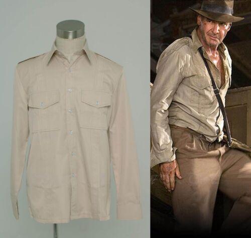 Hot! Indiana Jones Casual Shirt Costume Classic Cosplay Custom Made NN.569