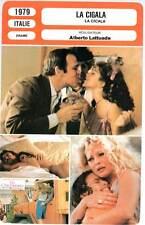 LA CIGALA - Franciosa,Lisi,Salvatori,Lattuada (Fiche Cinéma) 1979 - The Cricket