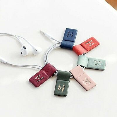 ICONIC Magnet Earphone Earbud Cord Winder Cable Holder Organizer Wrap Bookmark
