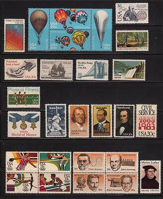 1983 US  COMMEMORATIVE YEAR SET 35 STAMPS MINT NH