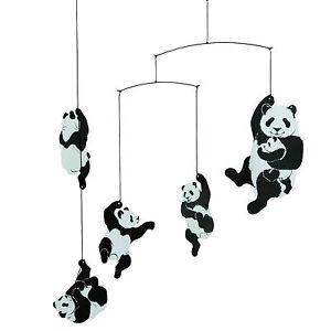 Details About Flensted Panda Bear Modern Hanging Baby Mobile Nursery Decor Danish