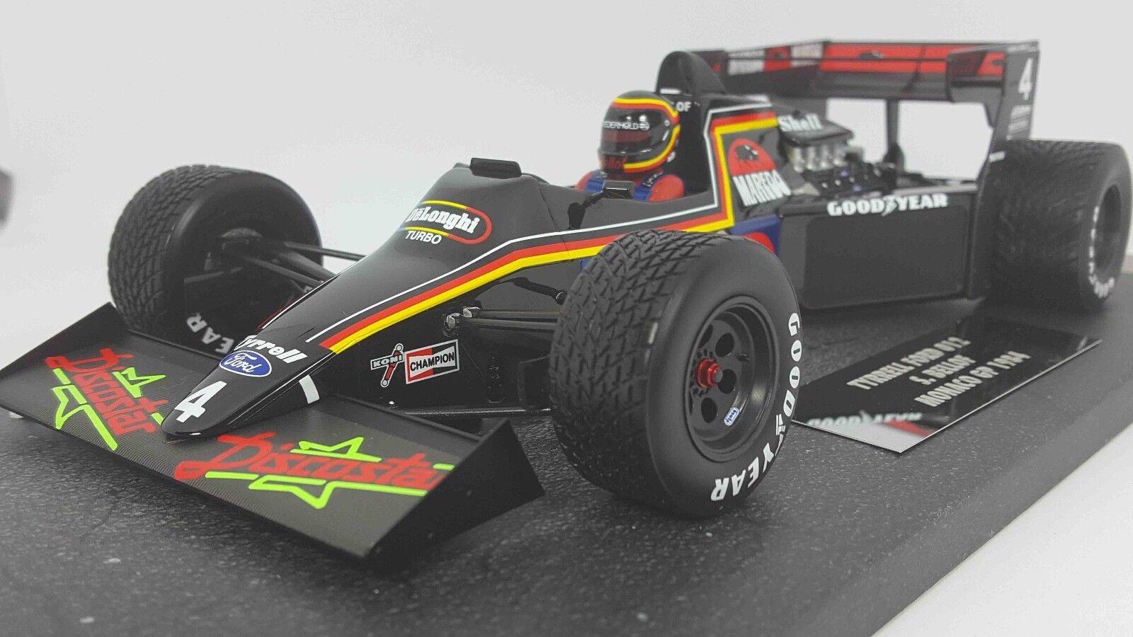 MINICHAMPS 117840004 1 18 Tyrrell Ford 012 Stefan Bellof Monaco GP 1984 F1 Model
