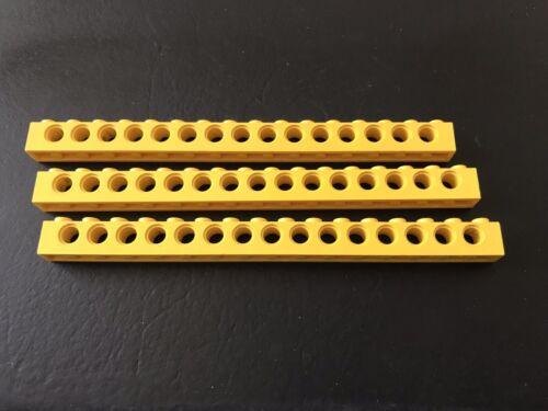 Lego Technik Technic 3 Lochbalken 1x16 gelb #3703